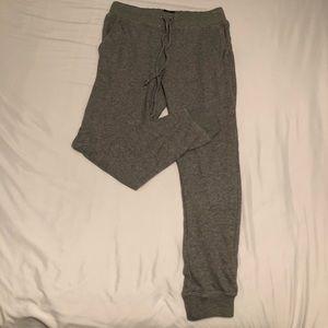 Women's grey jogger sweatpants